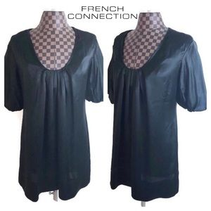 French Connection Silk Black Cocktail Dress fcuk